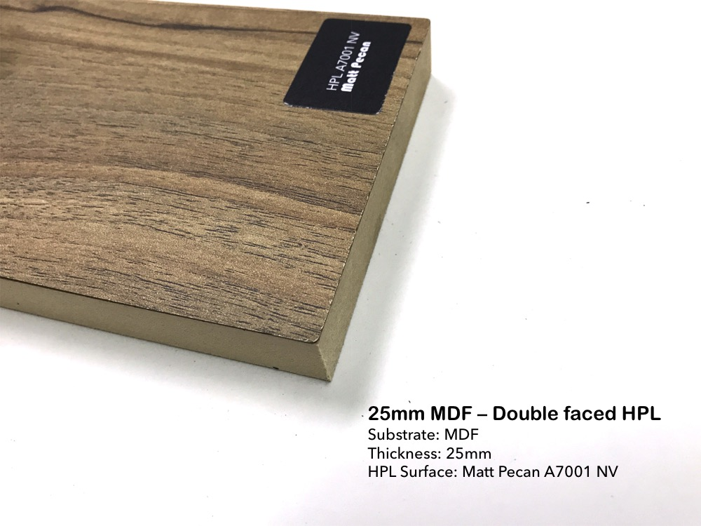 25mm MDF - Double faced HPL